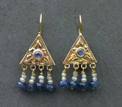 Stephanie Gilbert. 'EARRINGS'. Gold